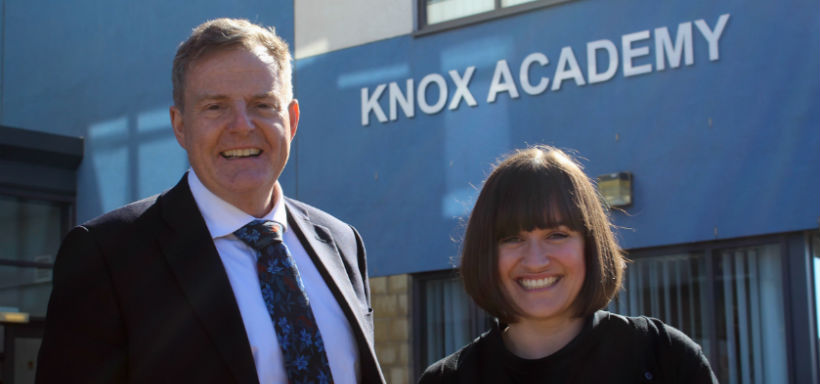 Robert Carr and Sara Jalicy at Knox Academy